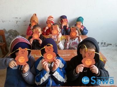 جزء من الأنشطة الأسبوعية التي تقوم بها جمعية مجموعة سوا للأطفال اللاجئين