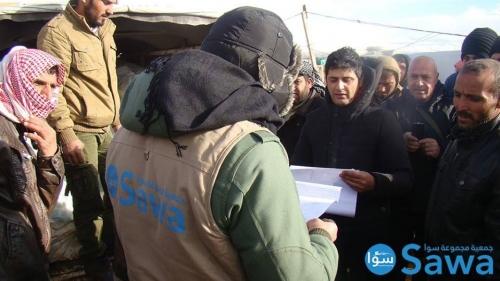 فرق الطوارىء التابعه للجمعية تتفقد اللاجئين في مخيمات منطقة بعلبك الهرمل