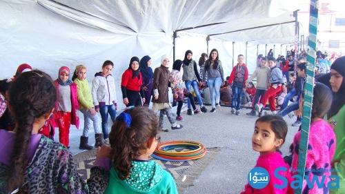 جزء من النشاط الأسبوعي ضمن مشروع حماية الطفل